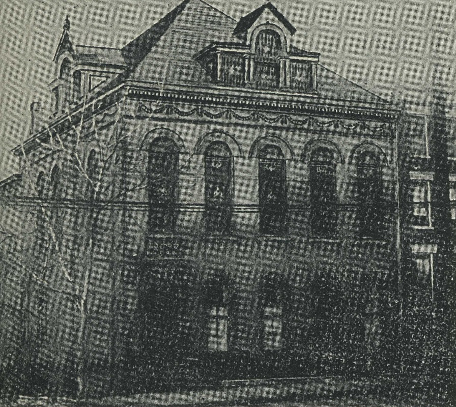 """Adath Israel at 9th and Cutter Streets, 1896-1917. <br><br>Courtesy of """"The Jews of Cincinnati."""""""