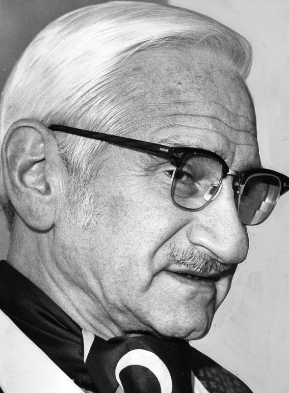 Dr. Albert Sabin, creator of the Oral Polio Vaccine. <br><br>Courtesy of The Jacob Rader Marcus Center of the American Jewish Archives, Cincinnati, Ohio.