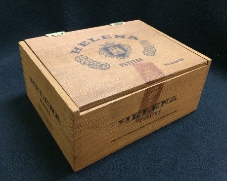 This is an original cigar box from the Frieder brothers' cigar company. They used the Helena Cigar Company to save Jewish refugees from Nazi-occupied Europe.<br><br>Photo courtesy of The Center for Holocaust and Humanity Education