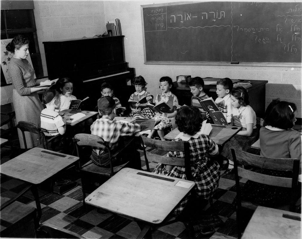Classroom instruction in 1950s Yavneh Day School. <br><br>Courtesy of The Jacob Rader Marcus Center of the American Jewish Archives, Cincinnati, Ohio.