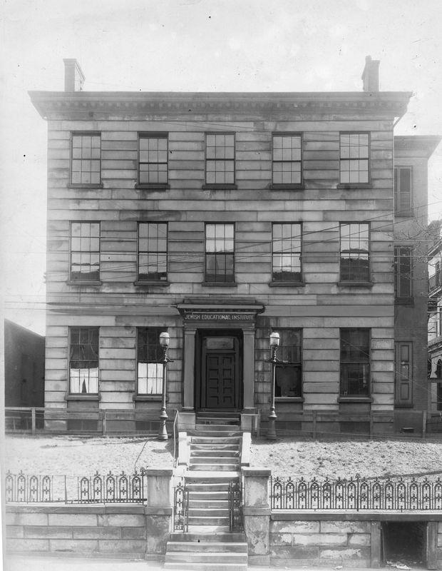 First head of United Jewish Charities (1896-1924), 731 West Sixth Street. <br><br>Courtesy of The Jacob Rader Marcus Center of the American Jewish Archives, Cincinnati, Ohio.