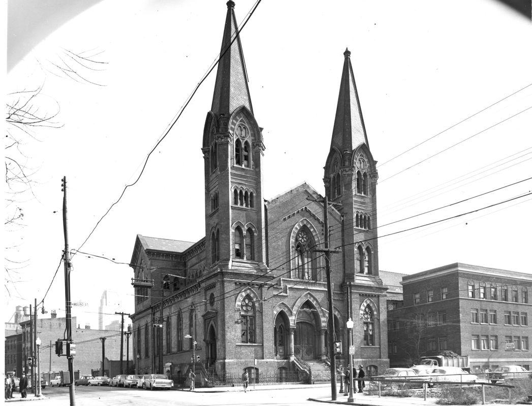 The Mound Street Temple. <br><br>Courtesy of The Jacob Rader Marcus Center of the American Jewish Archives, Cincinnati, Ohio.