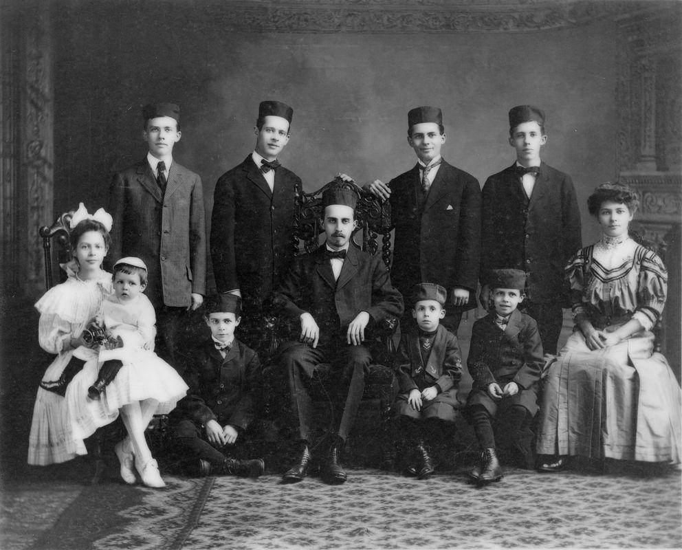 The Isaacs Family, a famous 19th century Eastern European Jewish family in Cincinnati. <br><br>Courtesy of The Jacob Rader Marcus Center of the American Jewish Archives, Cincinnati, Ohio.